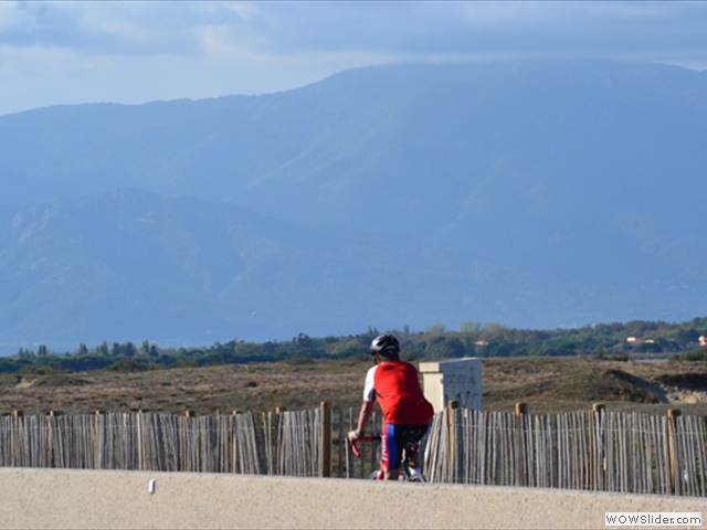 Cycling towards the Pyrenees
